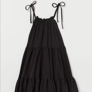 H&M NBW Black tiered mini dress